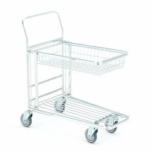 Policový vozík s košíkem