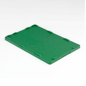 Víko k plastové přepravce, 600x400 mm, zelená
