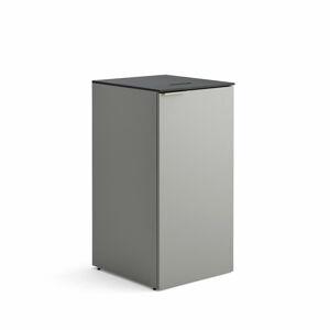 Skříňka na tříděný odpad Celsius, šedá, 1x nádoba na odpad
