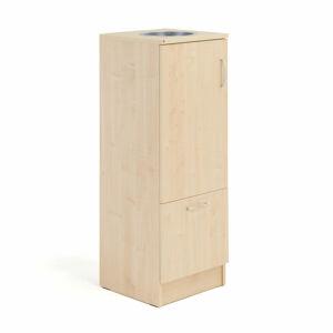 Skříňka na tříděný odpad, výklopné víko s otvorem, bříza