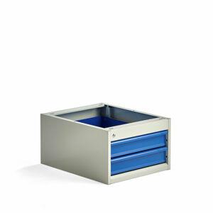 Zásuvková jednotka Solid, pod desku stolu, 2 zásuvky