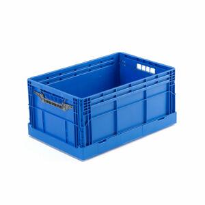 Skládací přepravka, 600x400x285 mm, modrám