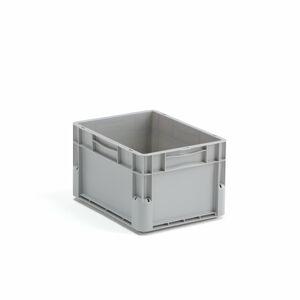 Plastová přepravka Euro, 21 l, 400x300x235 mm, šedá