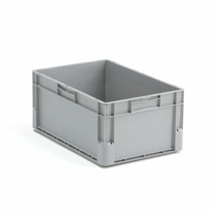 Plastová přepravka Euro, 52 l, 600x400x270 mm, šedá