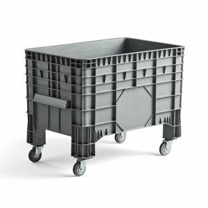Paletový kontejner, s kolečky, 1040x640x790 mm