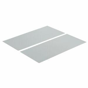 Boční plechová výplň pro regál Mix s otevřeným rámem, 2500x600 mm, pozink