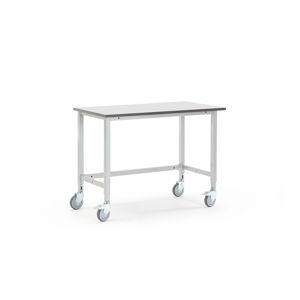 Pojízdný dílenský stůl Motion, 1200x600 mm, šedá deska HPL