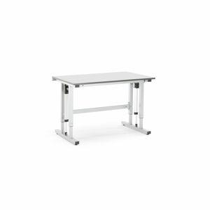 Pracovní stůl Motion, elektrické polohování, 300 kg, 1200x800 mm, HPL, šedá