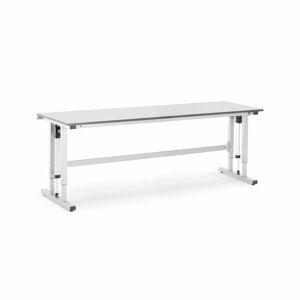 Pracovní stůl Motion, elektrické polohování, 300 kg, 2500x800 mm, HPL, šedá