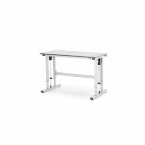 Pracovní stůl Motion, elektrický zdvih, nosnost 300 kg, 1200x600 mm, šedá deska HPL