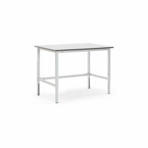 Pracovní stůl Motion, 1500x800 mm, nosnost 400 kg, šedá deska HPL
