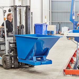 Výklopný kontejner Azure, 600 l, modrý