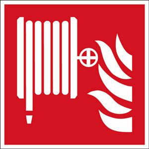 Požární hadice - značka, PES, samolepicí, 200x200 mm