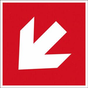 Směrová šipka 45° - značka, červená, PES, samolepicí, 100x100 mm