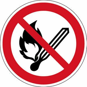 Zákaz výskytu otevřeného ohně - značka, PES, samolepicí, Ø 100 mm