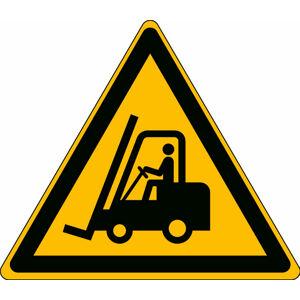 Pozor vozíky - podlahová značka, PES, samolepicí, 500x500 mm