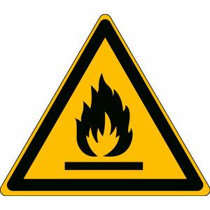 Výstraha požárně nebezpečné látky - značka, PP, pevná, 200x200 mm