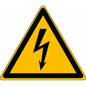 Riziko úrazu elektrickým proudem - značka, PES, samolepicí, 100x100 mm, 3ks