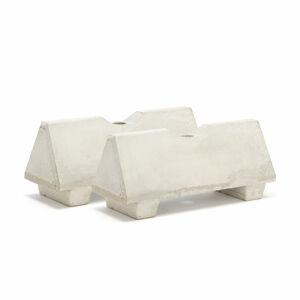 Betonová zábrana, s otvorem pro sloupek, šedá, bal. 2 ks