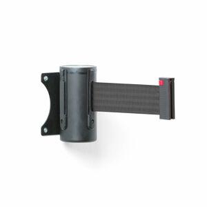 Zahrazovací pás, 2300 mm, nástěnná kazeta, černá, černý pás