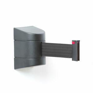Zahrazovací pás, 4600 mm, nástěnná kazeta, černá, černý pás