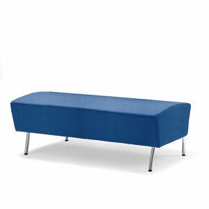Taburet Alex, délka 1200 mm, tkanina Medley, blankytně modrá