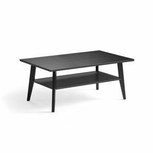 Konferenční stolek Penny, 1150x700x500 mm, černě mořený dub