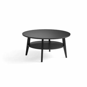 Konferenční stolek Holly, ? 1000 mm, černý