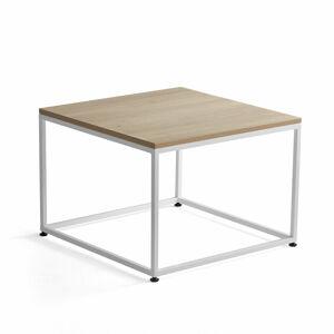 Konferenční stolek Mood, 700x700 mm, dub, bílý rám
