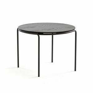 Konferenční stolek Ashley, Ø770 mm, výška 530 mm, černá, černá deska