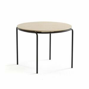 Konferenční stolek Ashley, Ø770 mm, výška 530 mm, černá, bříza