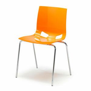 Jídelní židle Juno, oranžová