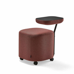 Stolička Flexit, se stolkem, černá, červenofialová