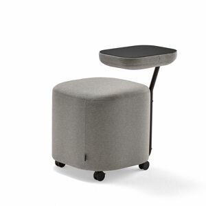 Stolička Flexit, se stolkem, černá, stříbrnošedá