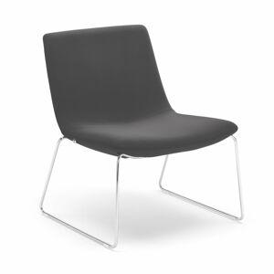 Lounge křeslo Otis, tmavě šedé