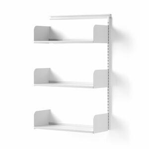 Nástěnný regál Shape, přídavná sekce, laminované police, 1237x800x300 mm, bílá/bílá