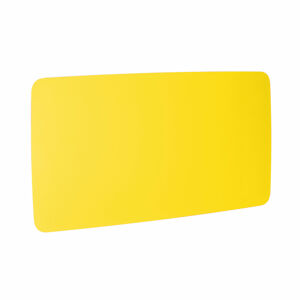 Skleněná magnetická tabule, kulaté rohy, 2000x1000 mm, žlutá
