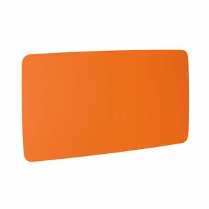 Skleněná tabule, kulaté rohy, 2000x1000 mm, pastelově oranžová