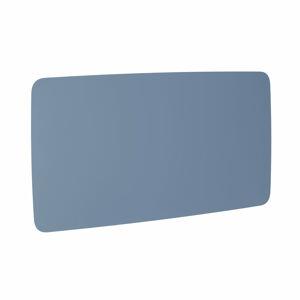 Skleněná tabule, kulaté rohy, 2000x1000 mm, pastelově modrá