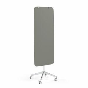 Mobilní skleněná tabule Stella, magnetická, kulaté rohy, šedá