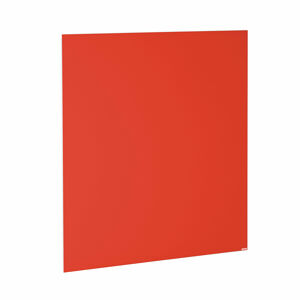 Skleněná magnetická tabule, 1000x1000 mm, pastelově červená