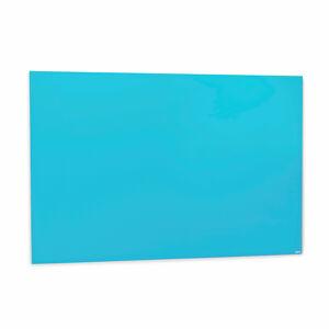 Skleněná magnetická tabule, 1000x1500 mm, světle modrá