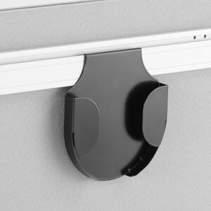 Držák pro uchycení stolní lampy na paraván Zip s lištou, černý