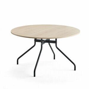 Stůl Around, Ø1300 mm, antracitová, bříza