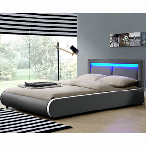 """Čalouněná postel,, Murcia """"180 x 200 cm - tmavě šedá"""