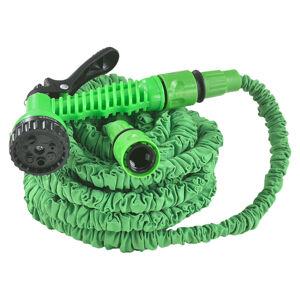 Flexibilní zahradní hadice Aqua 15m s multifunkcionálnou hlavicí zelená