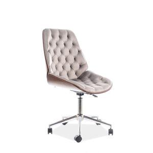Kancelářská židle ARIZONA samet sivá vzor 181