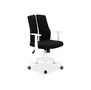 Kancelářská židle Q-226 černá/bíly rám