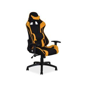 Kancelářská židle VIPER černá/ žltá