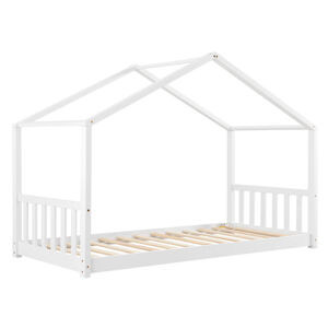 Dětská postel Paulina 90 x 200 cm s lamelovým roštem v bílé barvě